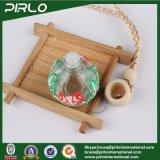 12ml Bola redonda em forma de vidro Perfume Pingente Garrafa com Polymer Clay Surface Garrafa de perfume de cosméticos com tampa de madeira