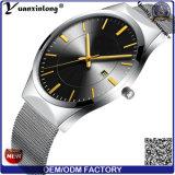 Yxl-480 het Horloge van het Kwarts van de Datum/van de Dag van de promotie Hete van de Verkoop Roestvrije van het Netwerk van de Riem van het Horloge van de Luxe Mensen van de Zakenman