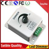 1 brilho ajustável Controllrt de Balck do interruptor do redutor do diodo emissor de luz da tira da canaleta