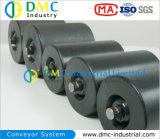 Ruedas Locas del Transportador del Negro del Rodillo del Transportador del HDPE del Sistema de Transportador del Diámetro de 114mm