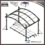 Armature de toit de C-Glissière d'armature incurvée par armature en aluminium d'étape d'événement
