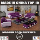 居間の家具のためのマツ木革ソファー一定Lz1688