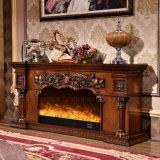 ホテルの家具MDFのヨーロッパ式の電気暖炉(318S)