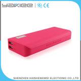 Batería universal de la potencia del USB del cuero al por mayor para el regalo