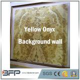 Onyx jaune de luxe en pierre naturelle La Décoration Intérieure & TV mur de fond