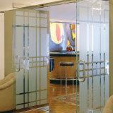 Foto esmerilado de la película del vinilo de privacidad de cristal de la oficina Puerta