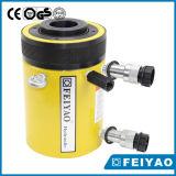 Cylindre d'huile Centre Hole Cylindre à piston à double effet à piston hydraulique