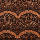 Europeu africano Swiss Trim para roupas Nylon Eyelash 3D Flower Lace Tul
