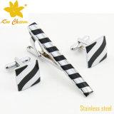 Tieclip-020 Mode Acier inoxydable avec émail et clip de cravate de diamant