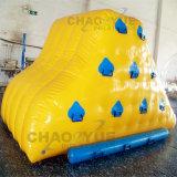Iceberg rampicante dell'acqua della parete dell'acqua gonfiabile del PVC di colore giallo 0.9mm