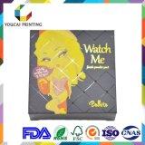 Vente en gros 350g Papier couché Cmyk Color Printing Boîte pliante cosmétique pour poudre de visage Mat Laminaton Spot UV