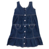 Quanlity alto estilo informal Baby Girl Jeans niños falda