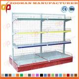 Mensola dell'angolo della parete della convenienza del supermercato del ferro personalizzata fabbricazione (Zhs599)