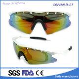 Óculos de sol Exchangeable dos esportes Tr90 da forma com frames óticos do interior