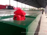 Sinotruk 3 eixo triplo água peptonada tamponada Flat-Bed Carreta semi reboque do contêiner de 40 pés