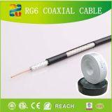 câble coaxial de liaison professionnel du produit RG6 de la fabrication 17years avec du ce d'ETL RoHS (RG6)