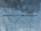 Bianco e maglietta adatta di Burnouy della tintura blu del legame in Sporswear Fw-8107