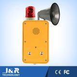 Teléfono manos libres a prueba de intemperie con bocina / faro, teléfono de radiodifusión al aire libre