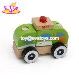 Neues Produkt-hölzernes Taxi-Auto-scherzen Minispielwaren-Geschenk-Spielwaren, Qualität hölzernes Taxi-Spielzeug-Auto, förderndes Taxi-hölzernes Spielzeug-Auto W05c010