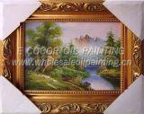 Peinture à l'huile de fleur et peinture à l'huile avec l'armature