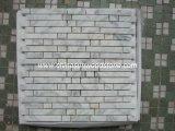 Mosaico de mármol blanco de Carrara
