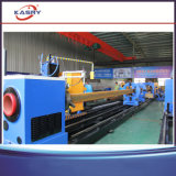 Machine de découpage ronde de plasma de commande numérique par ordinateur de tube de grand dos de pipe pour le découpage et la cannelure de tube de pipe en acier