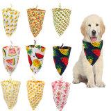 Собака Bandana соединительными головками glad hands 6 ПК красочной печати Без шарфа втулку регулируемый слюна полотенце для больших собак