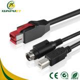 Cable terminal modificado para requisitos particulares del USB de la potencia de los datos de la caja registradora de la posición del explorador del código de barras