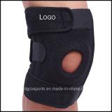Supporto durevole del ginocchio del neoprene della pelle