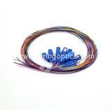 12 kleur Sc/Upc Sm de Optische Vlecht van de Vezel van 0.9 mm