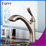 Brushed Nickle Brass Extrair Kitchen Grohe Faucet