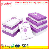 Boîte-cadeau d'emballage de bijou de série avec le plateau intérieur