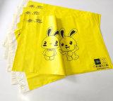 Sac de courrier estampé par coutume opaque d'annonce de LDPE d'usine poly