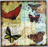 Diseño de mariposa de papel madera MDF de Plaza de la Decoración de pared de la etiqueta de la placa