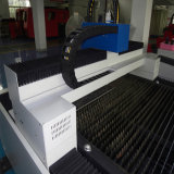 Cortadora óptica del laser de la fibra del metal de hoja para el acero inoxidable del carbón
