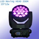 19*12W RGBW 4 в 1 свете сигнала СИД Beam& Moving головном