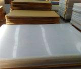 Placa acrílica branca material de PMMA para a decoração