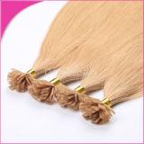 Estensioni Pre-Tenute da adesivo calde dei capelli dei capelli umani di fusione della cheratina piana