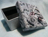Caja de regalo de papel recubierto con Polymer Clay (QT0102003)