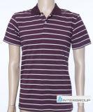 綿およびLycraファブリック(BG-M107)が付いている人のポロのTシャツ