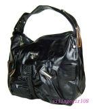 Saco Handbas Designer de couro preto (Yazi801)