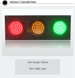 Custom Mold Mini 100mm 3 Unidades LED Traffic Signal Light