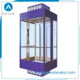 подъем замечания 1000kg с квадратной стеклянной кабиной лифта пассажира