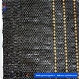 60GSM de zwarte Polypropyleen Geweven Stof van de Omheining van het Slib