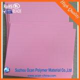 Розовый лист PVC цвета для неподвижного