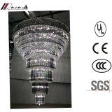 고품질 호텔 로비 다단계 큰 LED 결정 샹들리에