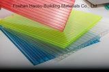 Alta hoja modificada para requisitos particulares de Sun de la depresión del policarbonato de la Gemelo-Pared de Qualtity hoja plástica