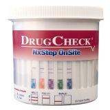 Copos do teste do abuso de drogas