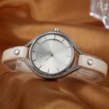 OEM ODM het Horloge van de Gift van de Kwart gallons van de Riem van de Legering van het Leer voor Vrouwen (wy-001B)