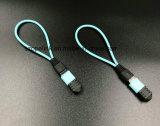 원거리 통신 수동적인 광섬유 하락 케이블 MPO 접속 코드 루프백